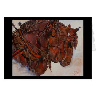 Tarjeta de la bella arte del caballo de proyecto