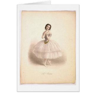 Tarjeta de la belleza de la bailarina