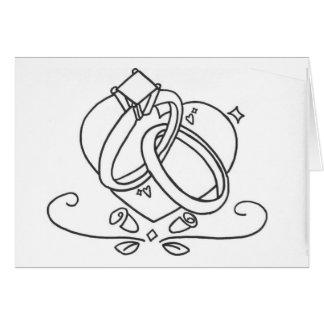 Tarjeta de la boda/del compromiso/del aniversario