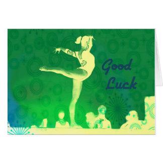 Tarjeta de la buena suerte de la gimnasia