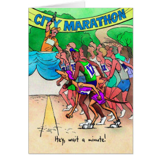 Tarjeta de la buena suerte para el Marathoner -