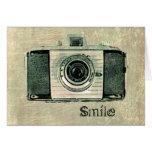 Tarjeta de la cámara del vintage del Grunge