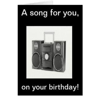 Tarjeta de la canción del feliz cumpleaños