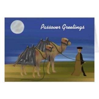Tarjeta de la caravana del desierto del Passover