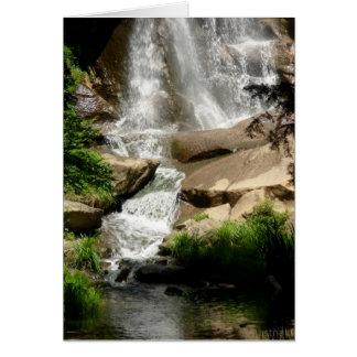 tarjeta de la cascada