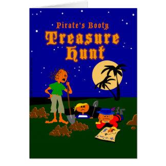 Tarjeta de la caza del tesoro del pirata