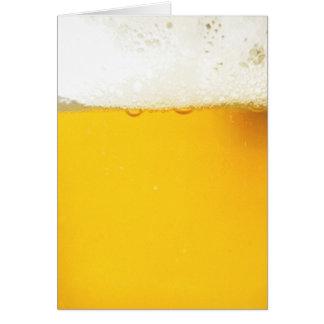Tarjeta de la cerveza