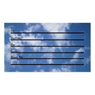 Tarjeta de la cita (cielo) tarjetas personales