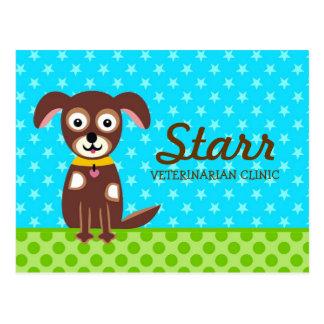 Tarjeta de la cita de 311 veterinarios postal