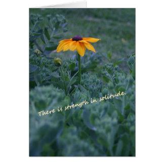 Tarjeta de la cita de la flor del amarillo de la