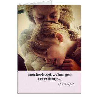 "Tarjeta de la cita de la ""maternidad"""