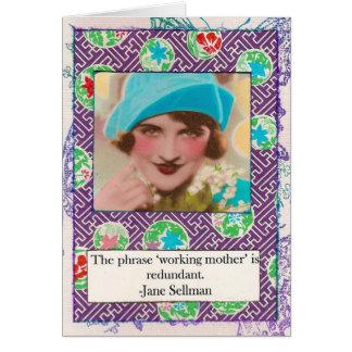 Tarjeta de la cita de la maternidad de Jane
