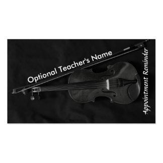 Tarjeta de la cita de Violinistic (roja) Tarjetas De Visita