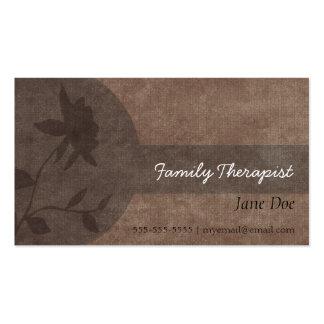 Tarjeta de la cita del terapeuta de la familia tarjetas de visita