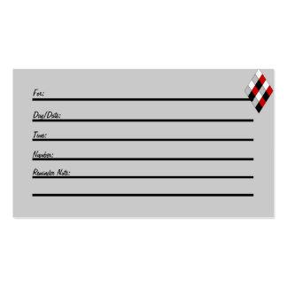 Tarjeta de la cita (diamante del bufón) tarjetas de negocios
