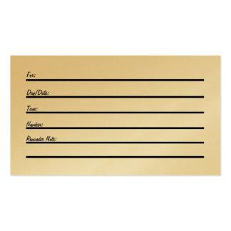 Tarjeta de la cita (en el oro) w/cross tarjetas de visita