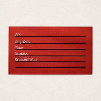 Tarjeta de la cita (roja)