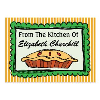 Tarjeta de la cocina - repostería y pastelería - tarjetas de visita grandes