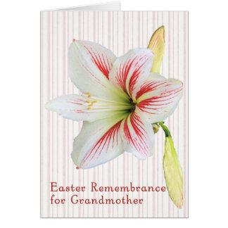 Tarjeta de la conmemoración de Pascua para la