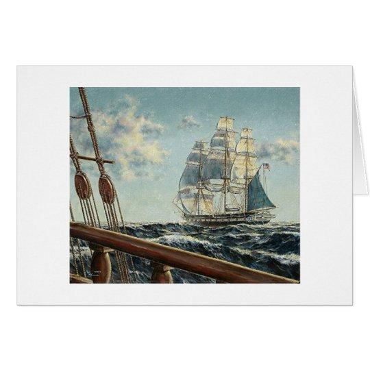 """Tarjeta de la """"constelación"""" de USS de la fragata"""