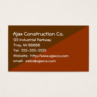 Tarjeta de la construcción para el contratista del