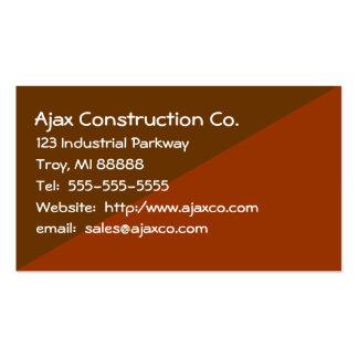 Tarjeta de la construcción para el contratista del tarjetas de visita