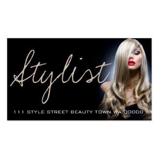 Tarjeta de la cosmetología de la belleza del plantilla de tarjeta personal