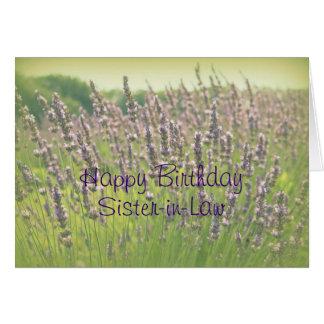 Tarjeta de la cuñada del feliz cumpleaños de la la