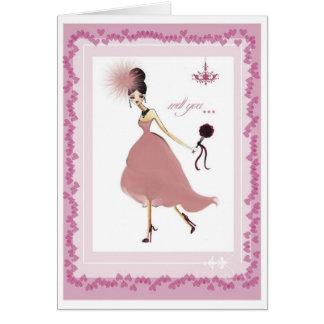 Tarjeta de la dama de honor