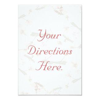 Tarjeta de la dirección de la flor de cerezo invitación 8,9 x 12,7 cm