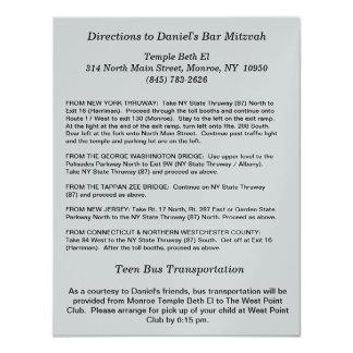 Tarjeta de la dirección invitación 10,8 x 13,9 cm