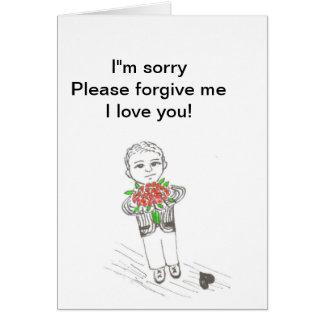 Tarjeta de la disculpa