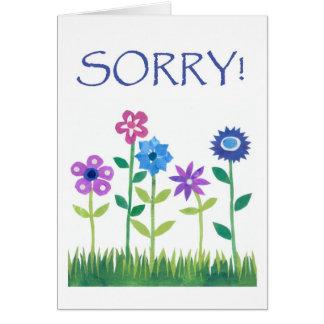Tarjeta de la disculpa - flower power