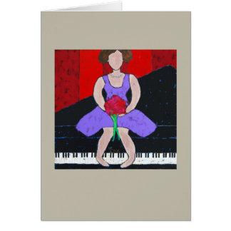 Tarjeta de la diva del piano