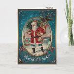 Tarjeta de la elegancia del navidad - Papá Noel