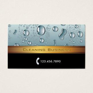 Tarjeta de la empresa de servicios de la limpieza