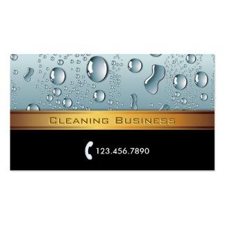 Tarjeta de la empresa de servicios de la limpieza  plantilla de tarjeta personal
