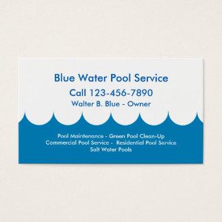 Tarjeta de la empresa de servicios de la piscina