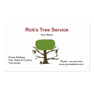 Tarjeta de la empresa de servicios del árbol tarjeta de negocio