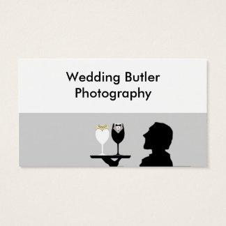 Tarjeta de la empresa de servicios del boda