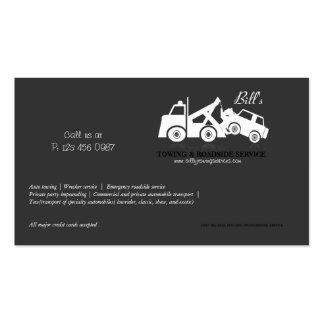 Tarjeta de la empresa de servicios del camión de a tarjetas de visita