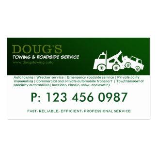 Tarjeta de la empresa de servicios del camión de tarjetas de visita