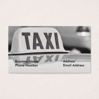 Tarjeta de la empresa de servicios del conductor