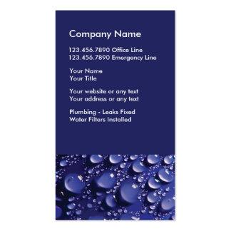 Tarjeta de la empresa de servicios del fontanero tarjetas de visita