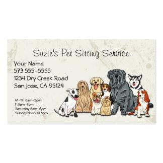 Tarjeta de la empresa de servicios del mascota tarjetas de visita