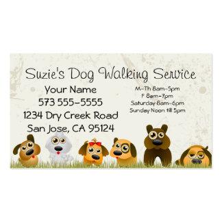 Tarjeta de la empresa de servicios del perro que tarjetas de visita