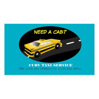 Tarjeta de la empresa de servicios del taxi tarjetas de visita