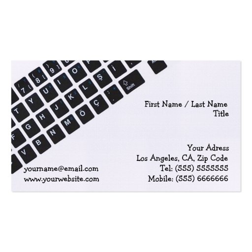 Tarjeta de la empresa informática tarjeta de negocio