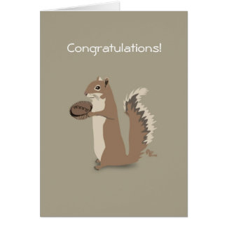Tarjeta de la enhorabuena de la ardilla