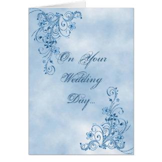 Tarjeta de la enhorabuena del boda: Elegancia del